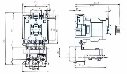 t系列热过载继电器与接触器组合3