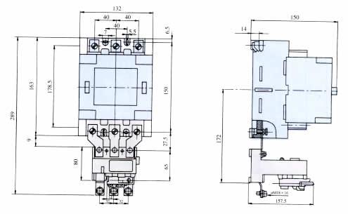 t系列热过载继电器与接触器组合5