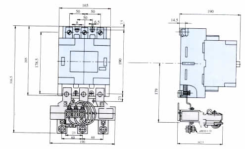 b250交流接触器与t170热过载继电器配合