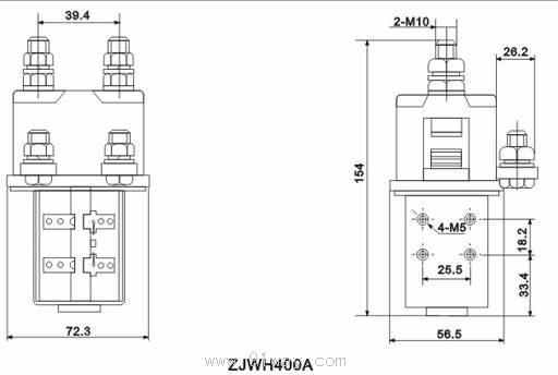 zjwh400a型直流接触器