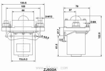 zj600a型直流接触器