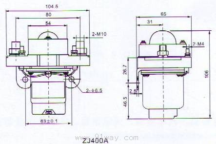 zj400a型直流接触器