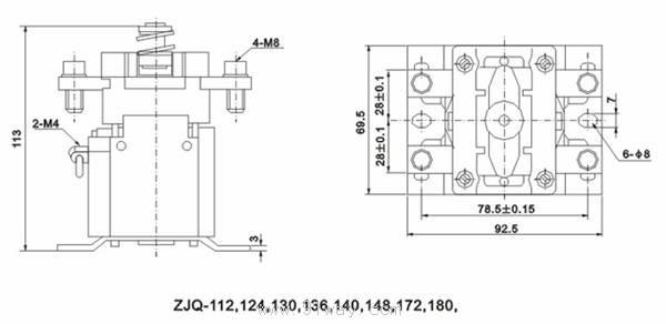 zjq100p系列直流接触器