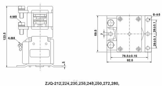 zjq200p系列直流接触器