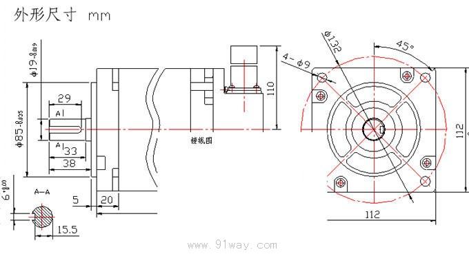110/220电机接线图
