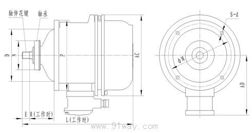 锥行转子电机接线图