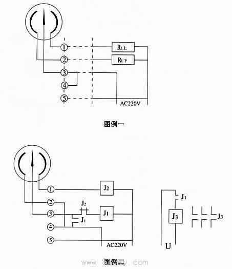 电接点压力表接点图