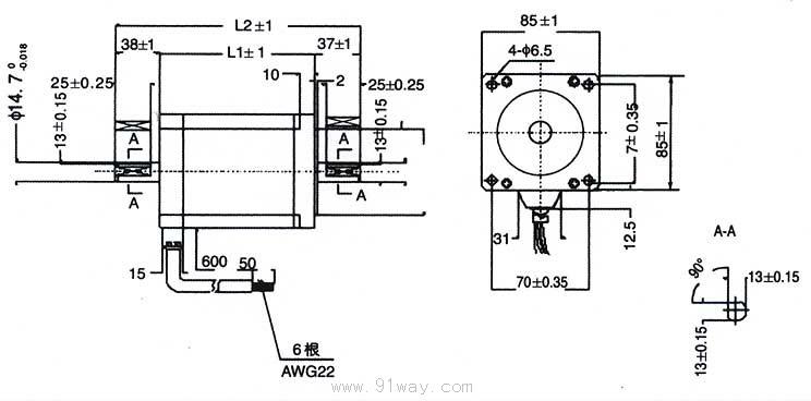 85bygh系列混合式步进电动机