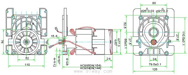 hc98系列高压清洗机电机