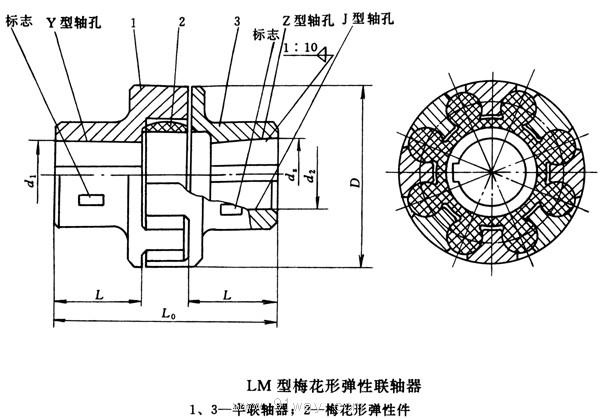 梅花弹性联轴器图纸_LM梅花联轴器图纸_LM梅花联轴器图纸图片分享