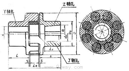 梅花弹性联轴器图纸_ML型梅花形弹性联轴器-[报价-资料]--上海华邦工业商务网-www.91way.com