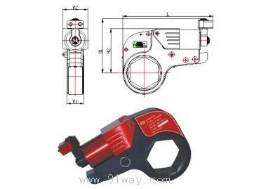 ynbk系列中空式液压扭矩扳手图片