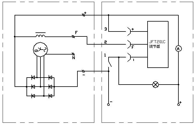 jf1000y硅整流发电机电气原理图及接线图