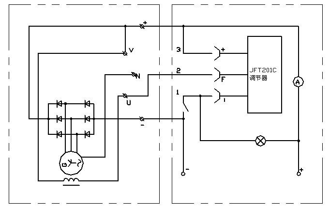 jf1500ya硅整流发电机电气原理图