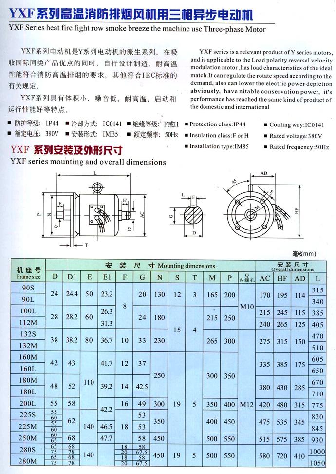 YXF系列风机消防排烟图纸异步电动机-[v风机-资高温t.s.c图片