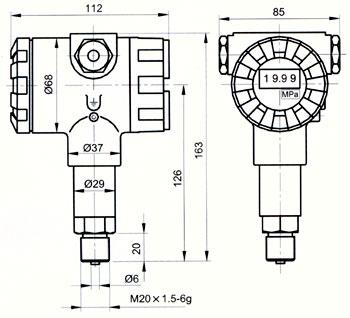 js-8型溅射薄膜压力传感器