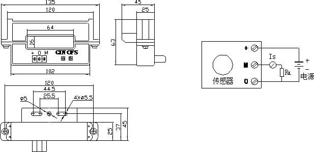 a-cs1500kt系列霍尔可拆交流电流传感器