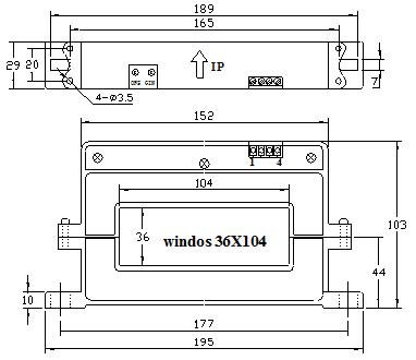 ka系列霍尔可拆卸电流传感器外形尺寸(mm)