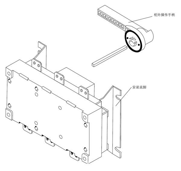 dglh系列1000~1600a隔离开关装配图