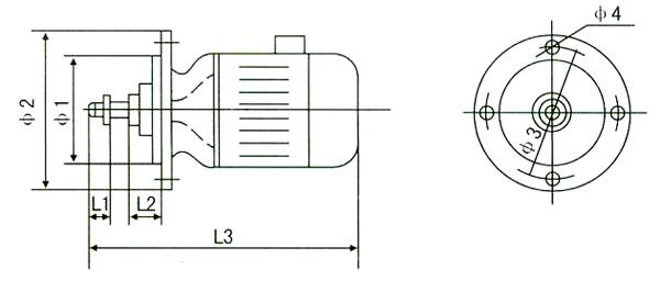 zdq08型0.8kw锥形转子电动机