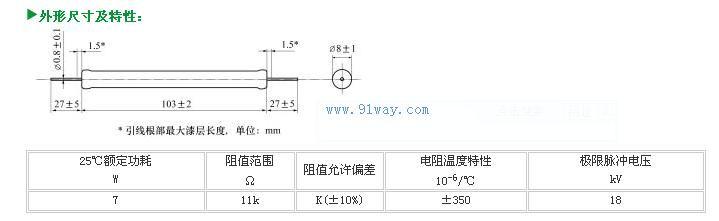 ri83型高压脉冲电阻器