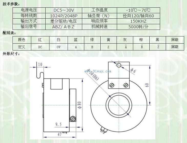 ste电梯编码器技术参数及安装尺寸