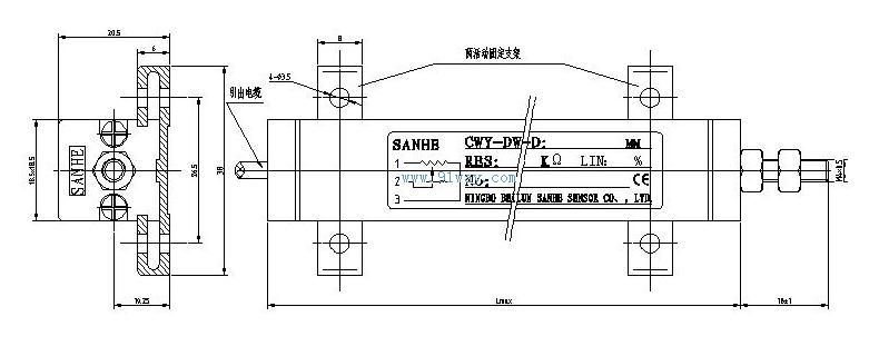 cwy直线位移传感器