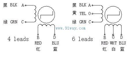 57sth系列混合式步进电机接线图