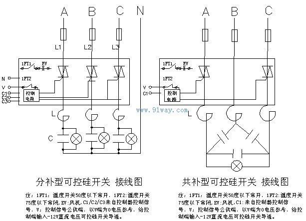 空调风扇电容接线图图片大全 吸油烟机电动机接线图