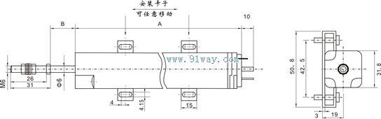 ns-wy03型位移传感器变送器