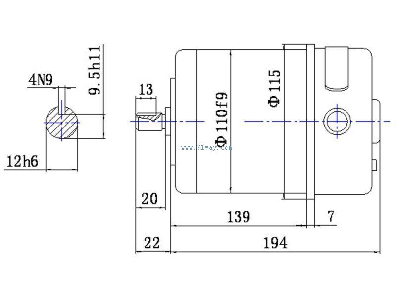 110sz56h3直流电梯门电机