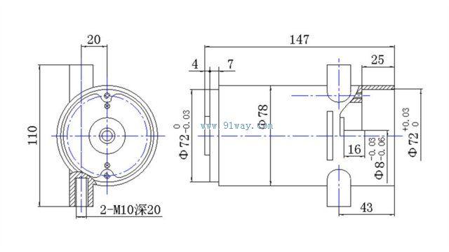 s222bt1型手提式切割机电动机外形尺寸