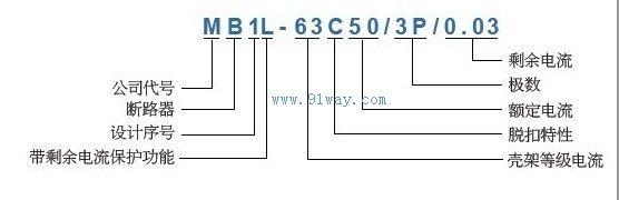 mb1l系列小型带剩余电流保护断路器