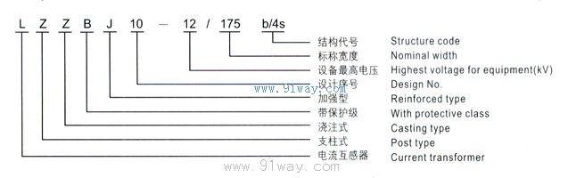 lzzbj10-12/175b/4s系列电流互感器