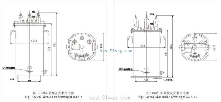 首页 高压电器 高压互感器 6kv电压互感器 → jsjb-6系列电压互感器