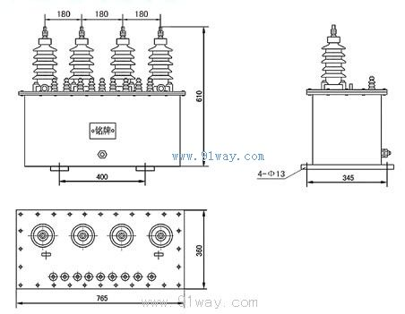 jszwk-6型抗揩震三相电压互感器