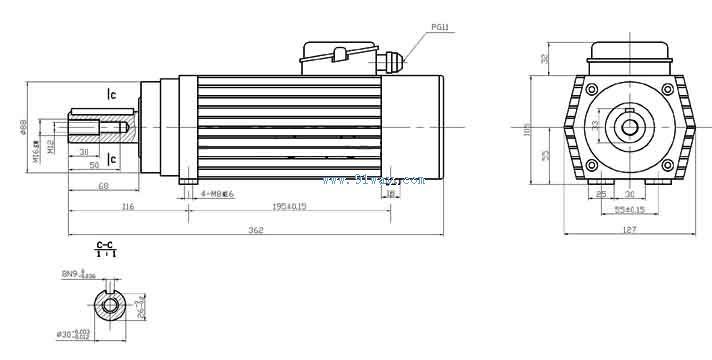 2万转/分)  typl系列隔爆型永磁变频电机直驱螺杆泵控制柜  yzp55142