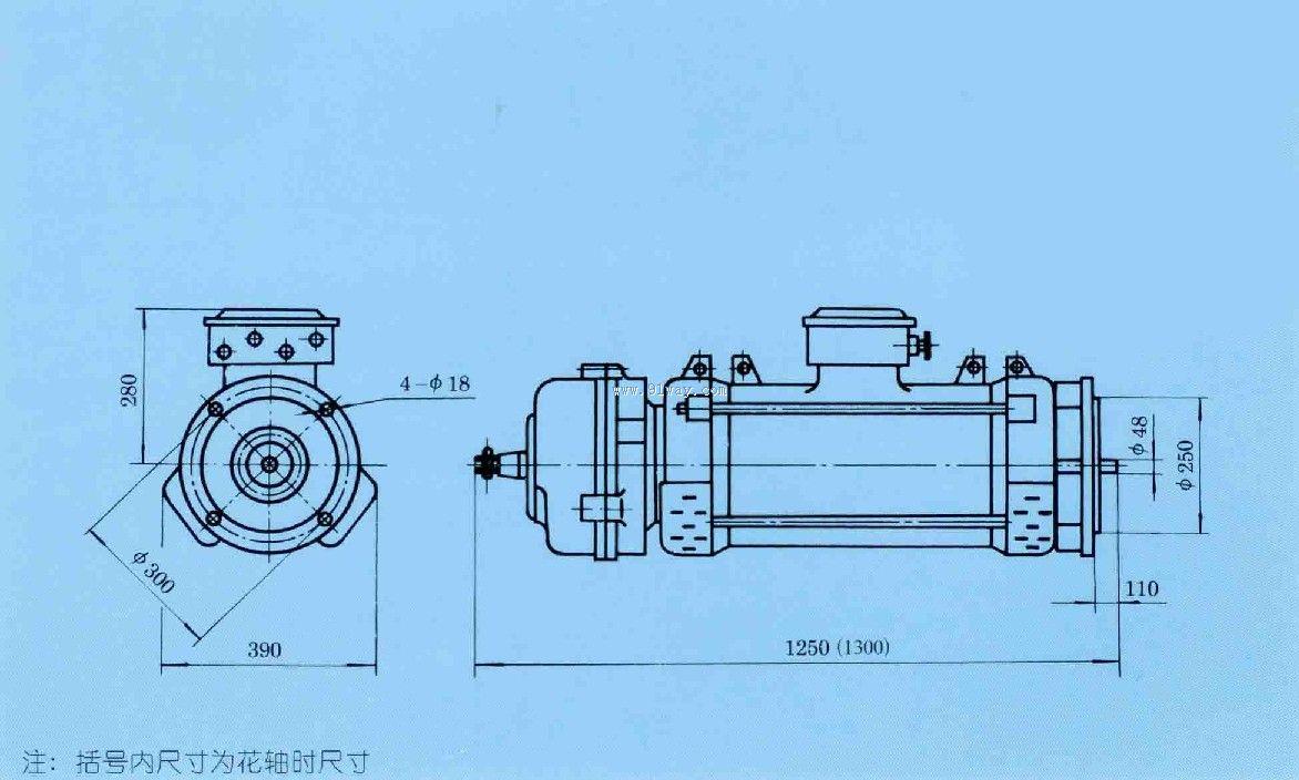 概述 TSYDE180L-16/4/2型塔机起升用三相异步电动机系参照国外同类先进产品设计研制的专用电动机,在其定子中有三组独立绕组,具有高、中、低三种转速及三种不同的输出功率,在绕组中还敷设有二个温控器,当电动机的温升超过规定范围时可传递给控制电路以信号。电动机的非轴伸端具有一常闭式直流制动器及手动松闸装置。 本型电动机设计先进,操作方便,安全可靠,是国内外80-150吨米级塔机中起升卷扬机构选用的理想的主起升电动机。 绝缘等级F级; 防护等级IP23; 安装尺寸符合IEC标准; 安装结构型式有B3和B
