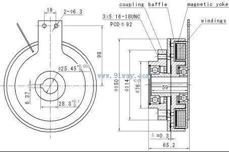 电磁离合器结构_铣床电磁离合器原理_电磁离合器选型