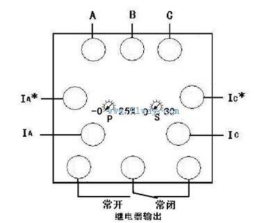 q96-wtcan,q96-wtczan逆功率报警功率表接线示意图