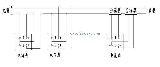 双路直流电流电压表接线图接线图