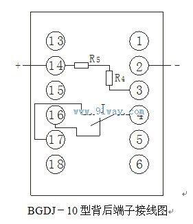 bgdj-10型直流电压继电器接线图