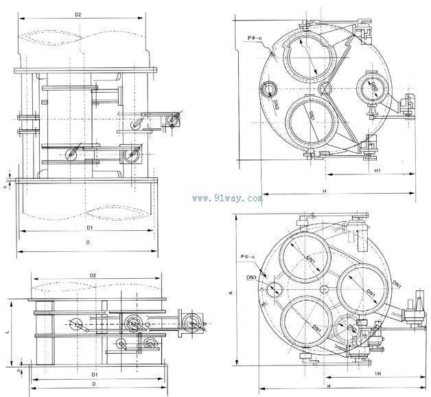 tyfz型蝶阀式调压阀组图片