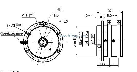 wd36导电塑料电位器外形尺寸