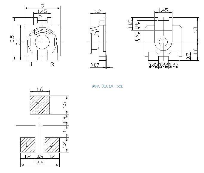 W203贴片可调电阻-[报价-资料]--上海华邦工业