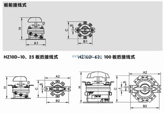 hz10-25/3组合开关产品详细说明