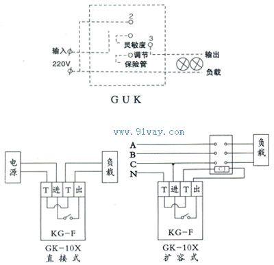 GUK-84(80A)系列路灯光控全自动开关