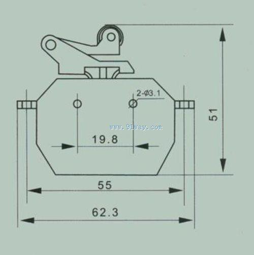 csk2-za-22磁吹开关安装尺寸