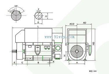 yrkk系列绕线转子高压三相异步电动机(h710-1000)