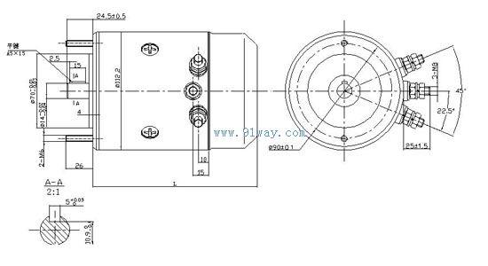 直流电机的励磁接线图